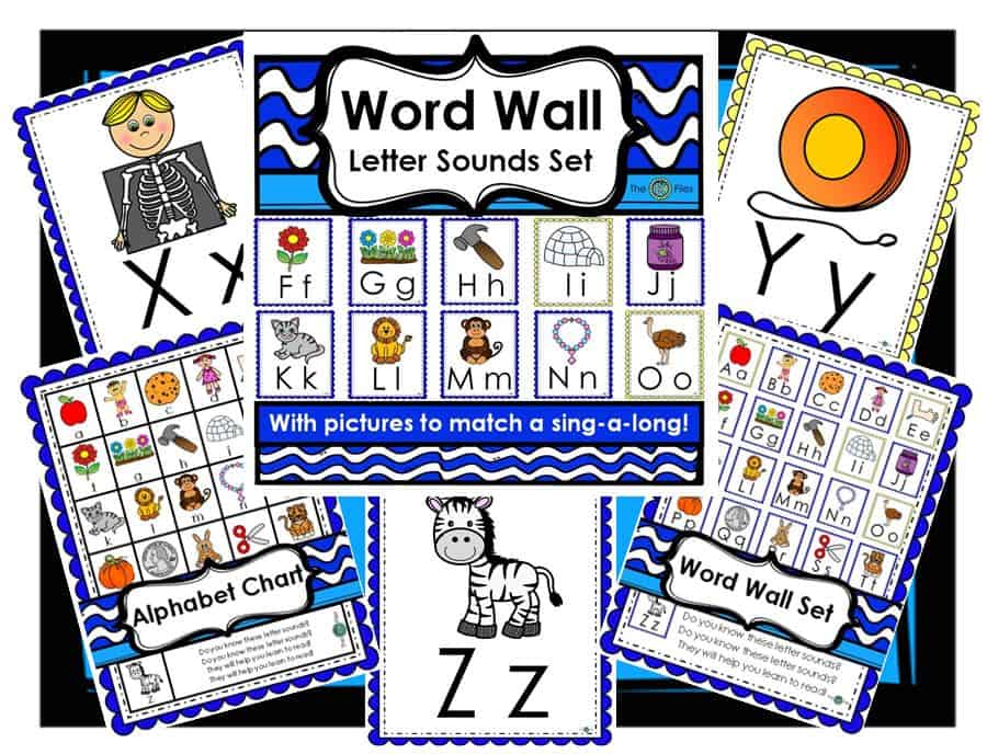 A Word Wall Letter Sounds set of posters and alphabet chart to match Barbara Milnes Letter Sounds Song. During Writer's Workshop and Writer's Workshop as well as during guided reading groups and word work centers during the Daily 5 rotations, my students look for the letter sounds they need as they sing the catchy tune to the Letter Sounds Song.