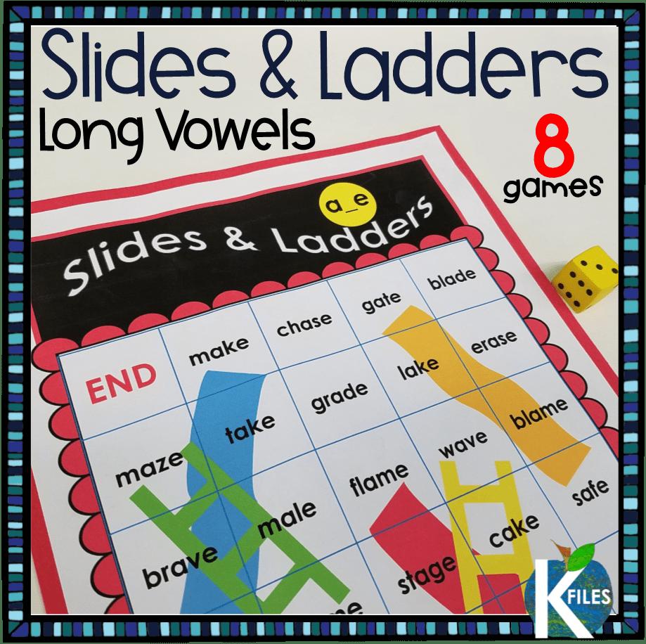 Slides and Ladders Long Vowel Games