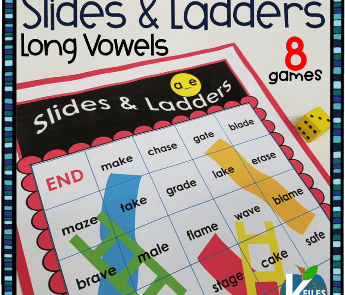 Slides and Ladders Long Vowel Games