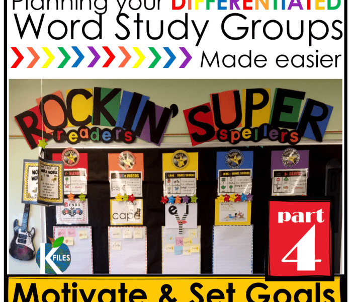 Words Their Way, OUR way Part 4: Motivation & Goal Setting