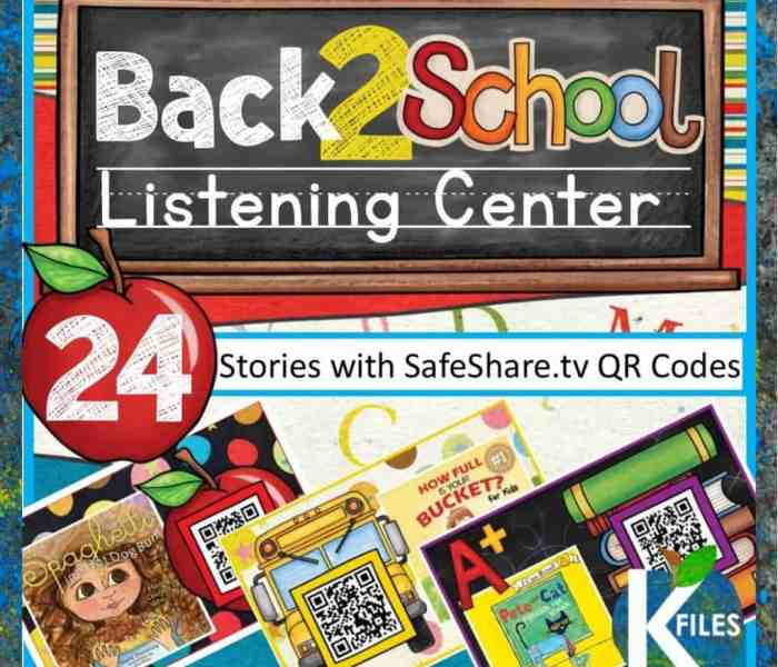 The Back to School Listening Center with QR Codes