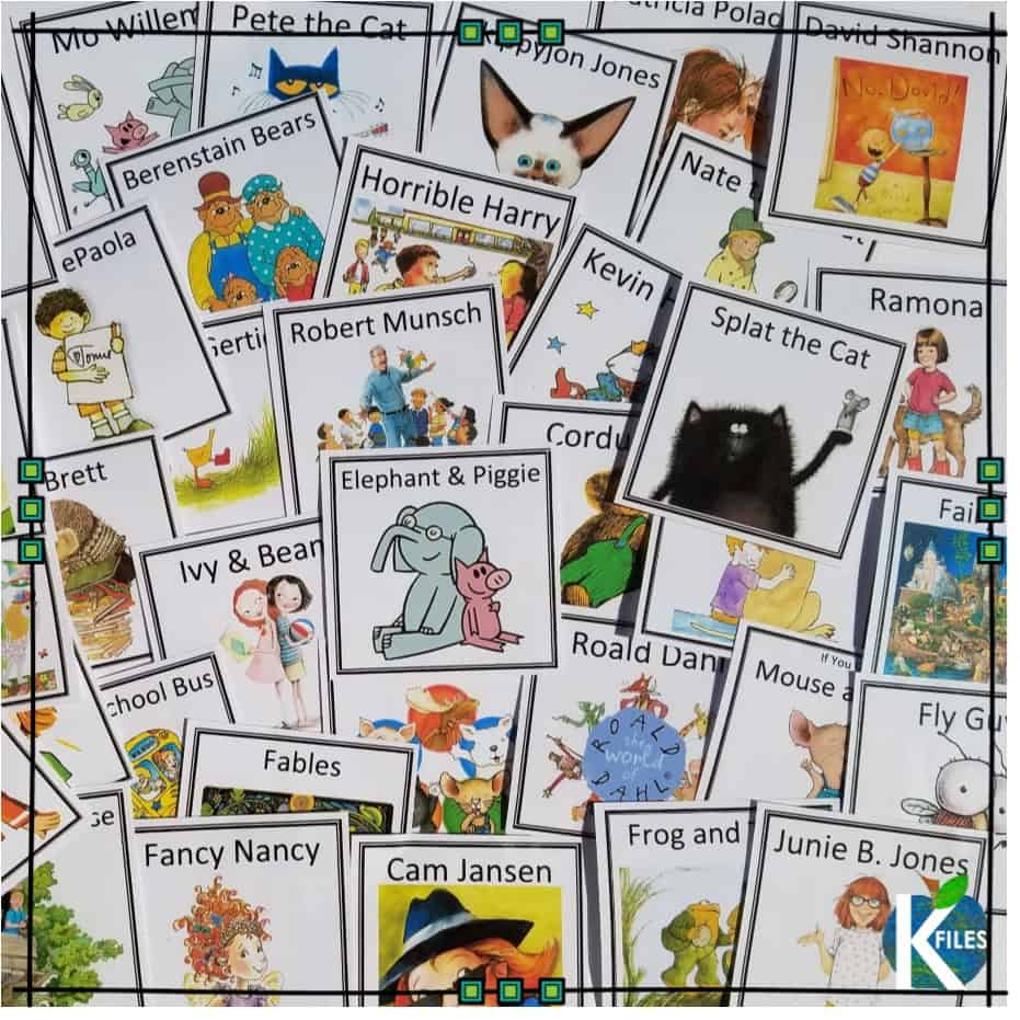 Freebie! Library labels for author studies and DRA Guided REading levels for the primary grades: kindergarten, first and second grade. Get your library ready for Reader's Workshop with leveled books!