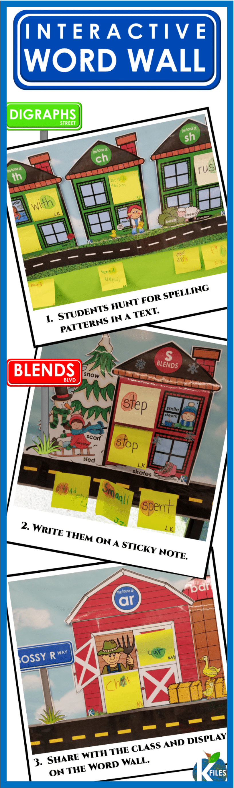 Is your Word Wall just taking up space? Are you concerned that your Word Wall decor is simply that...decor? The Interactive PHONICS word wall is a trending new approach to Word Wall activities in the primary grades. Word Wall activities are countless with this approach to phonics instruction. Check it out, your kindergarten, first grade and second grade students will flourish with interaction with your Word Wall ideas.