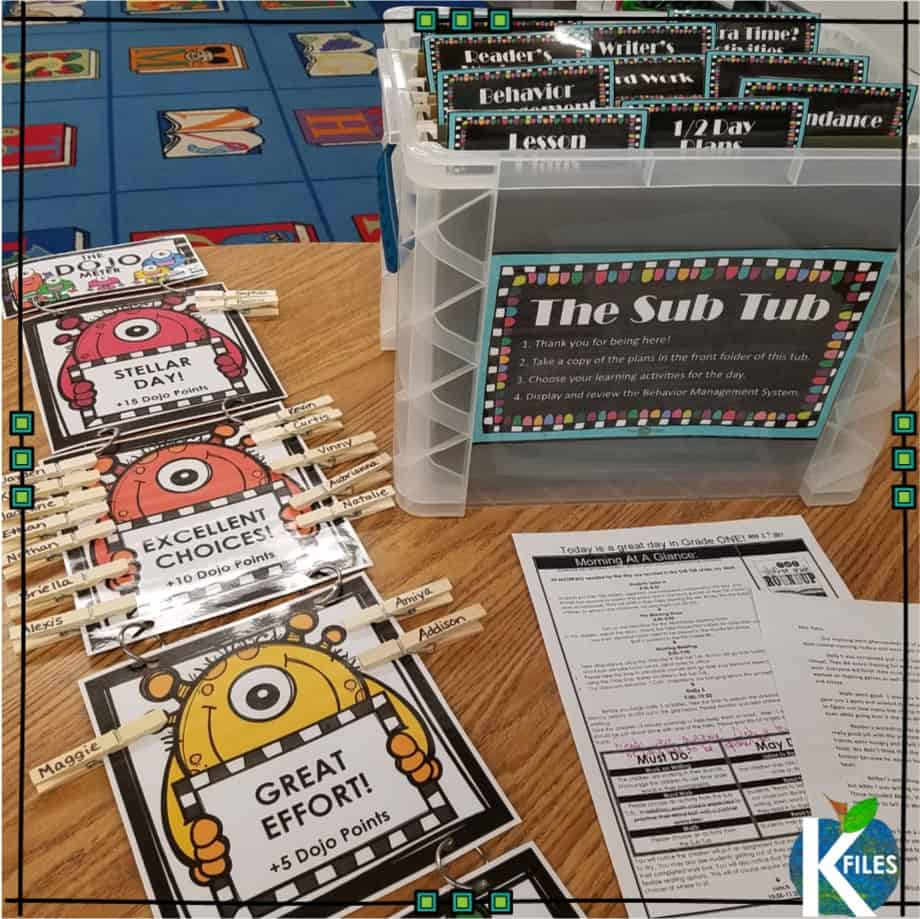 The Sub Tub: Before the school year begins, I prepare several standalone lessons for each content area that will enrich or review what we have already learned throughout the school year. I try to choose activities that will engage my students to eliminate potential discipline problems for the substitute teacher. Your substitute will thank you. The lessons included in The Sub Tub offer them the opportunity to utilize their own creative lesson delivery strategies.