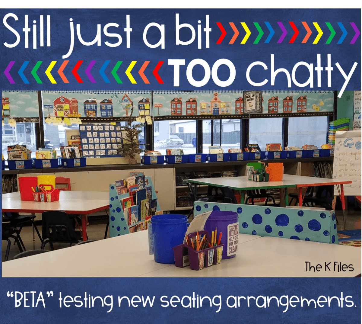 A classroom layout and arrangement that provides organization and behavior management strategies for the the start of the new year and Back To School. Classroom Management hack. Thinking outside the box with your classroom furniture.