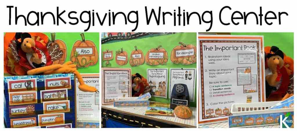 This Fall and Thanksgiving Writing Center will help your students write proper nonfiction paragraphs to explain the important aspects fo the first Thanksgiving. An awesome Thanksgiving activity.