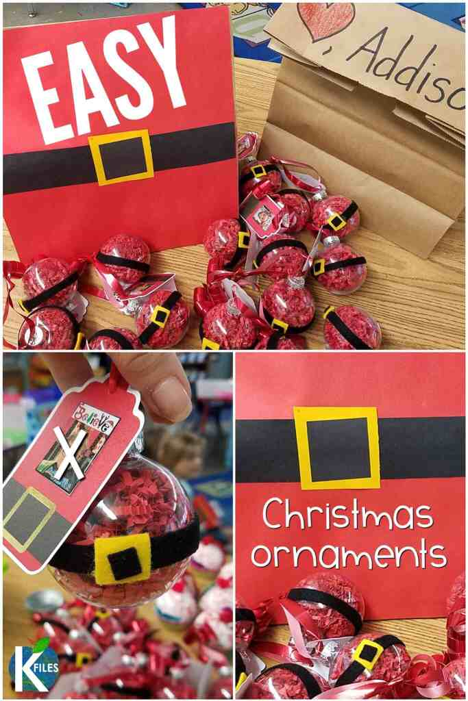 These Christmas ornaments for kids are a perfect Christmas ornament craft for the classroom! Here you will find a round up of my most favorite Christmas crafts for kids. They make great parent gifts for the holidays! #christmasintheclassroom #firstgrade