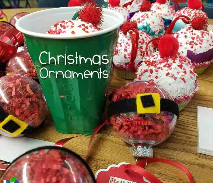 Sweet Christmas Ornaments for Kids
