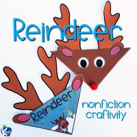 Nonfiction Reindeer Craft