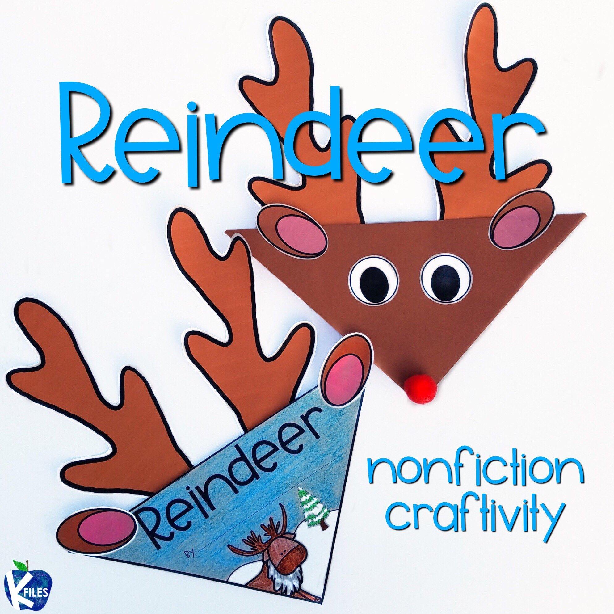 Nonfiction Reindeer Craft