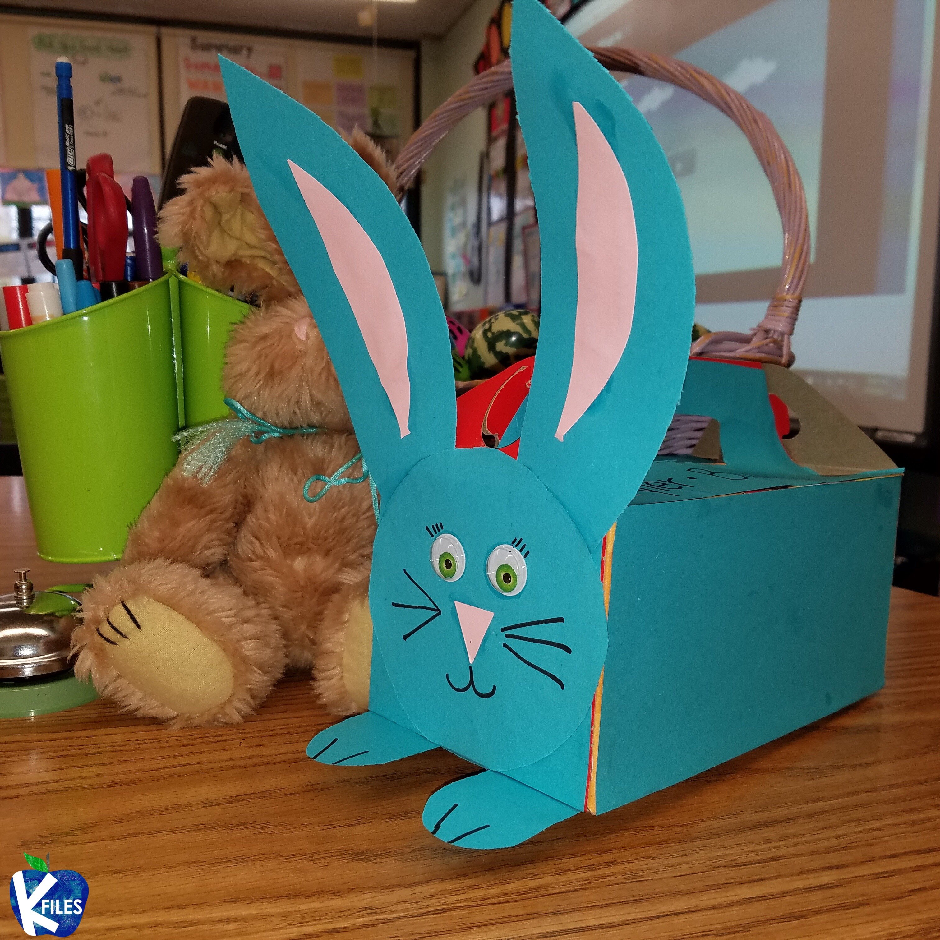 Turn a Timbits box into an Easter Basket!