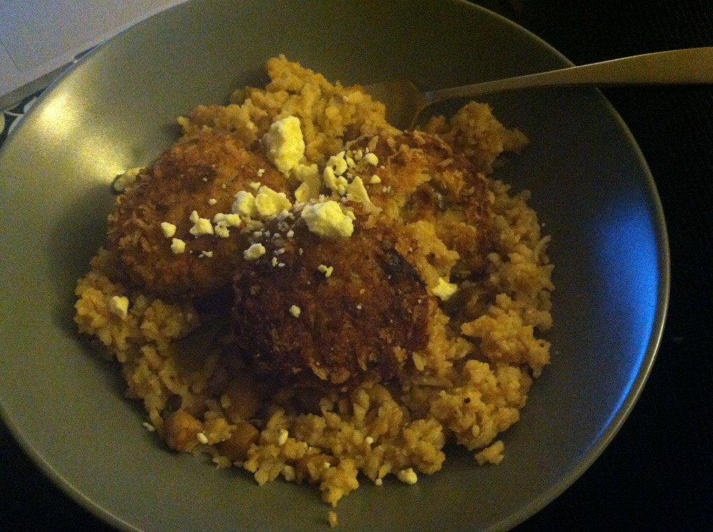Croquette On Creamed BrownRice