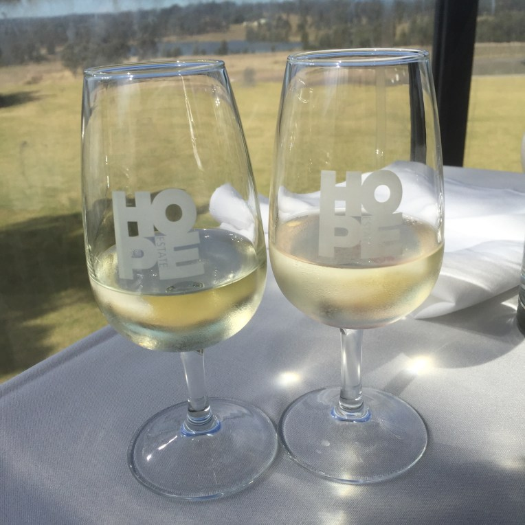 Paired wines with lunch at Harvest Restaurant
