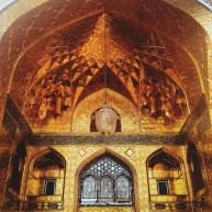 A golden entrance, taken from inside Imam Reza Shrine, Freedom area
