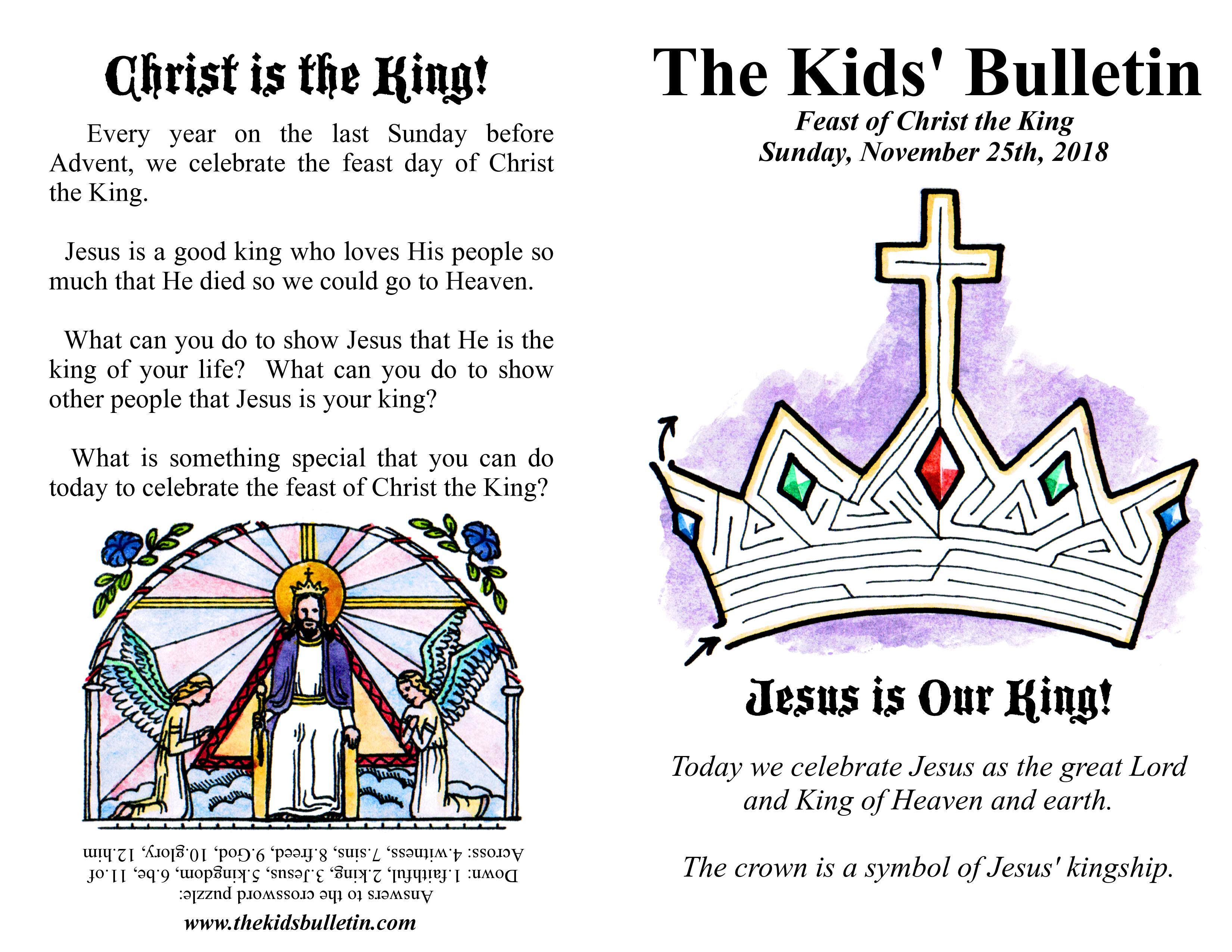 The Kids Bulletin Christ The King