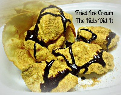 The Kids Did It -Fried Ice Cream with Chocolate Sauce #3