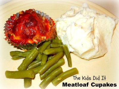 Meatloaf cupcakes by The Kids Did It