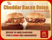 McDonald's Cheddar Bacon Onion Burger {Giveaway Hop}