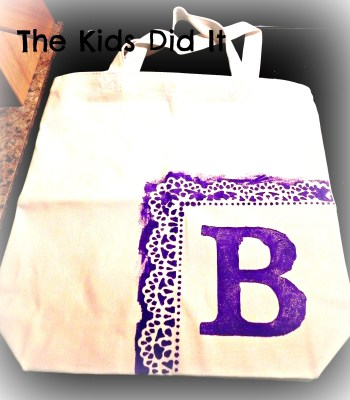DIY Hand Painted Monogrammed Bags Are Very Green!
