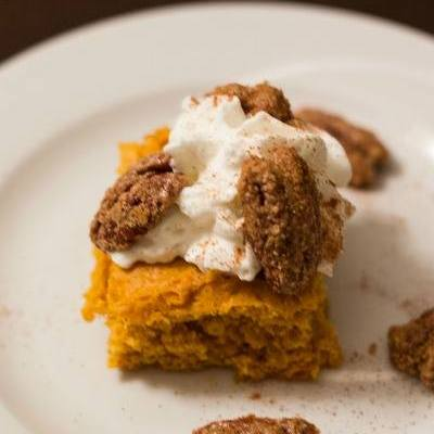 Homemade Pumpkin Bars With Candied Pecan Topping (12 Days Of Dessert)