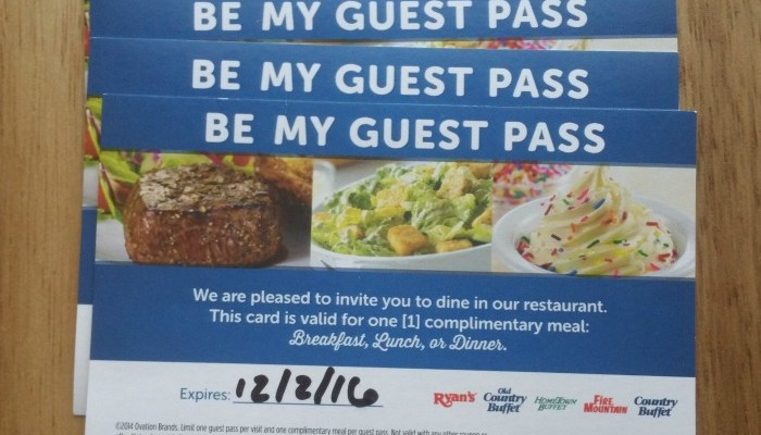 Be My Guest At Ovation Brands Restaurants
