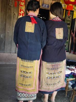 Vintage Yao dress from Vietnam