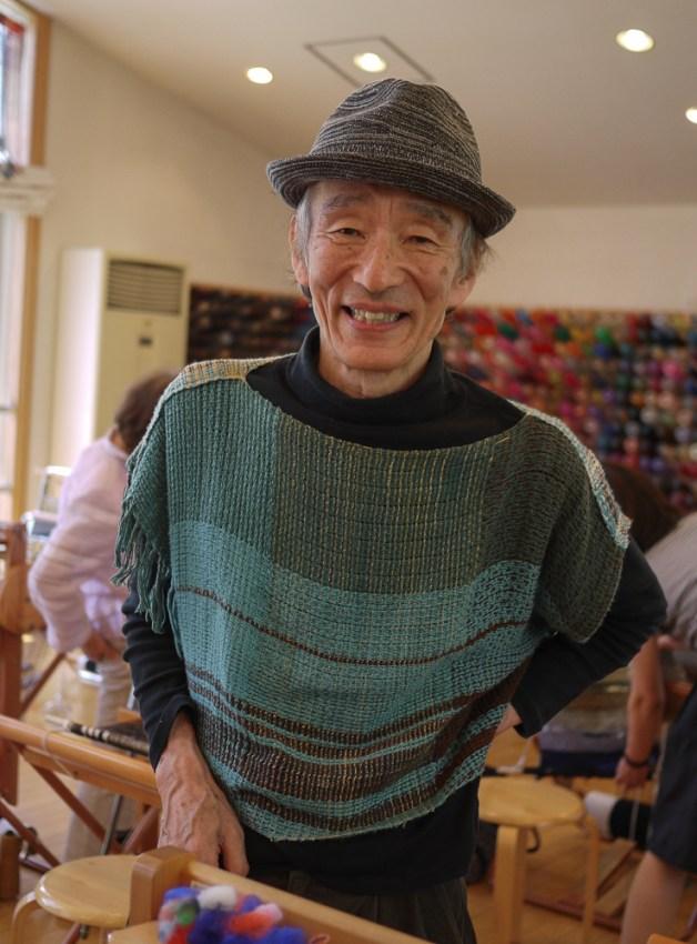 Kenzo at the Saori studio, photo by Lauren K. Lancy