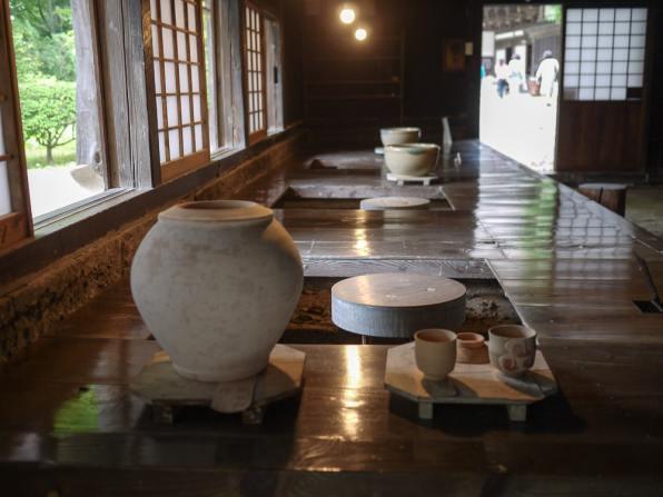 Shoji Hamada's workspace