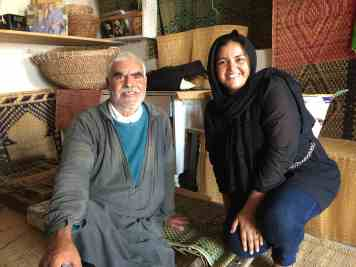 Tunisian Basketry — Father and Daughter