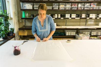 Organic Prints — Natural Dye Silk Screen Table