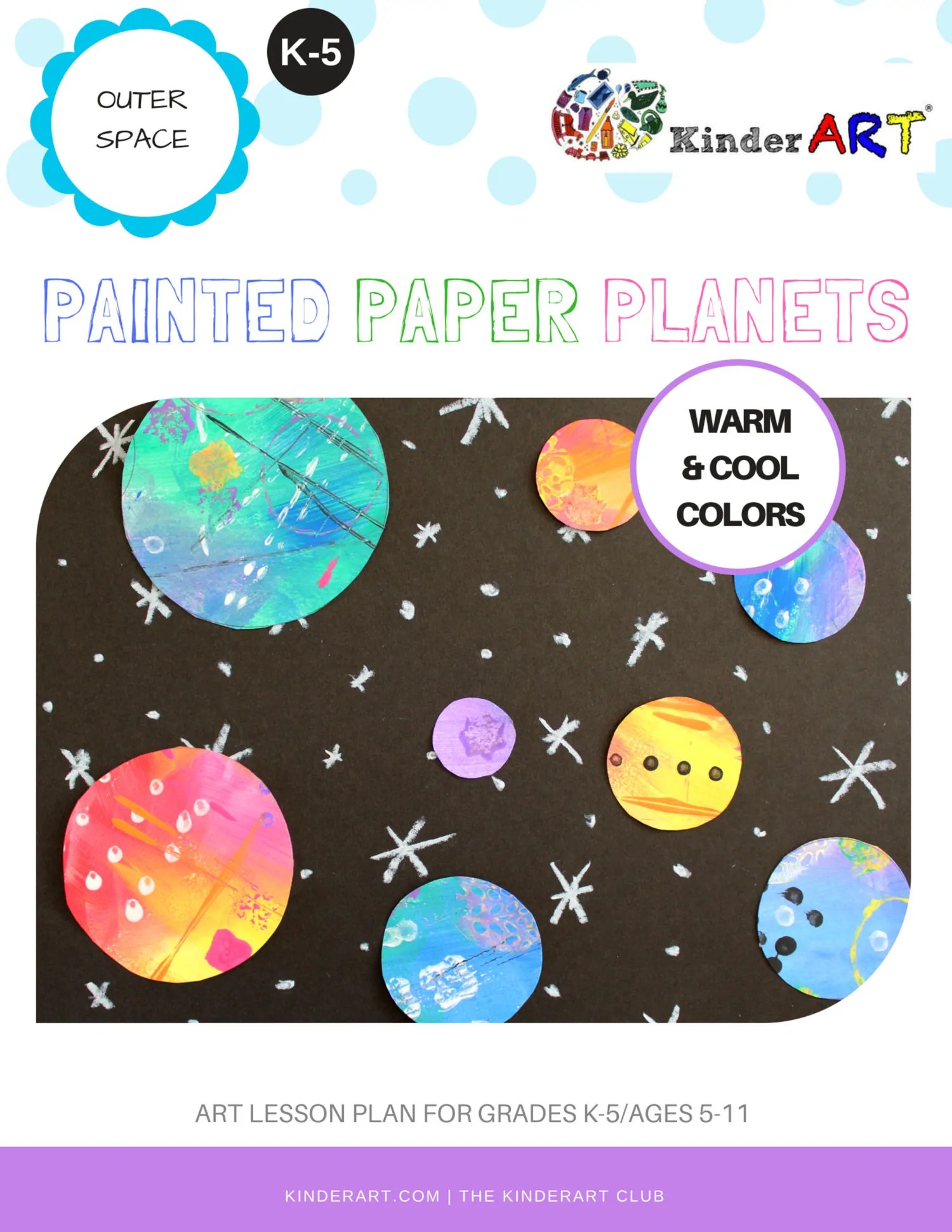 Lesson Painted Paper Planets