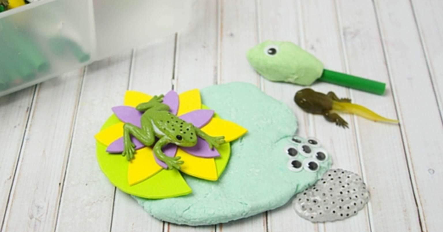 Frog Play Dough Kit