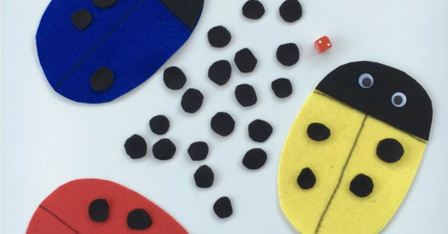 Roll A Ladybug Dice Game