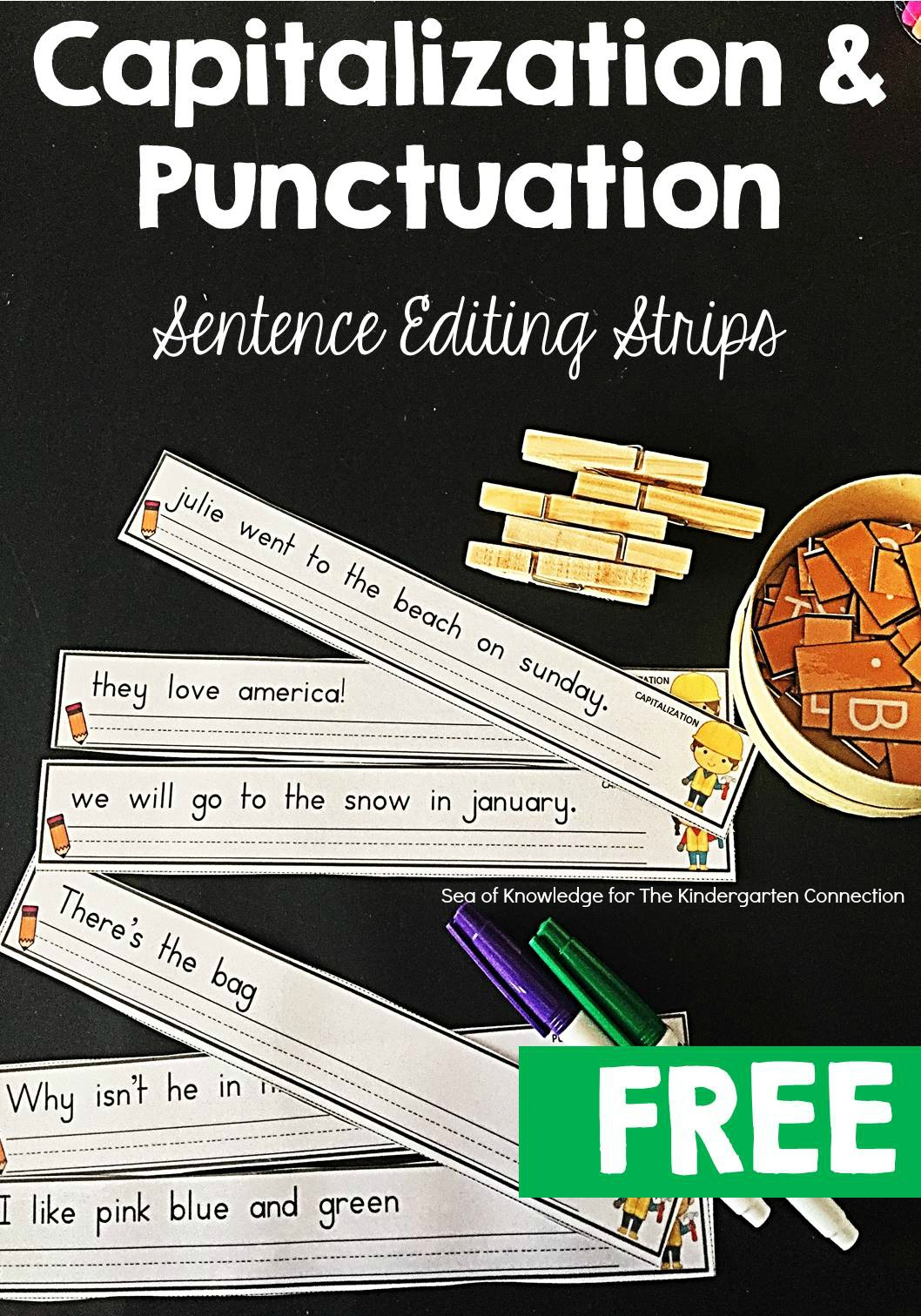 Sentence Editing Strips
