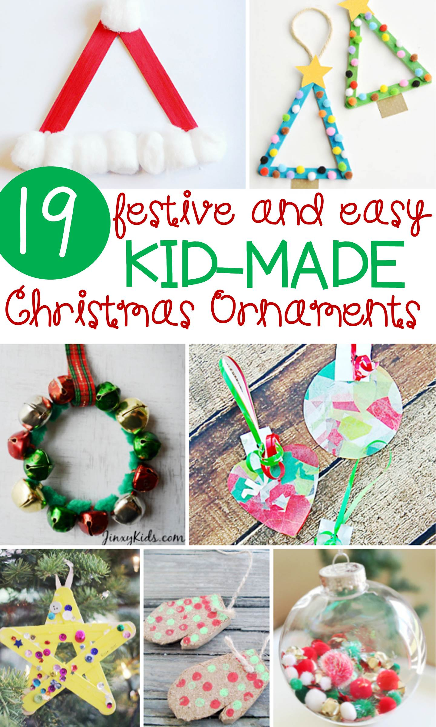 Festive And Simple Kids Christmas Ornaments