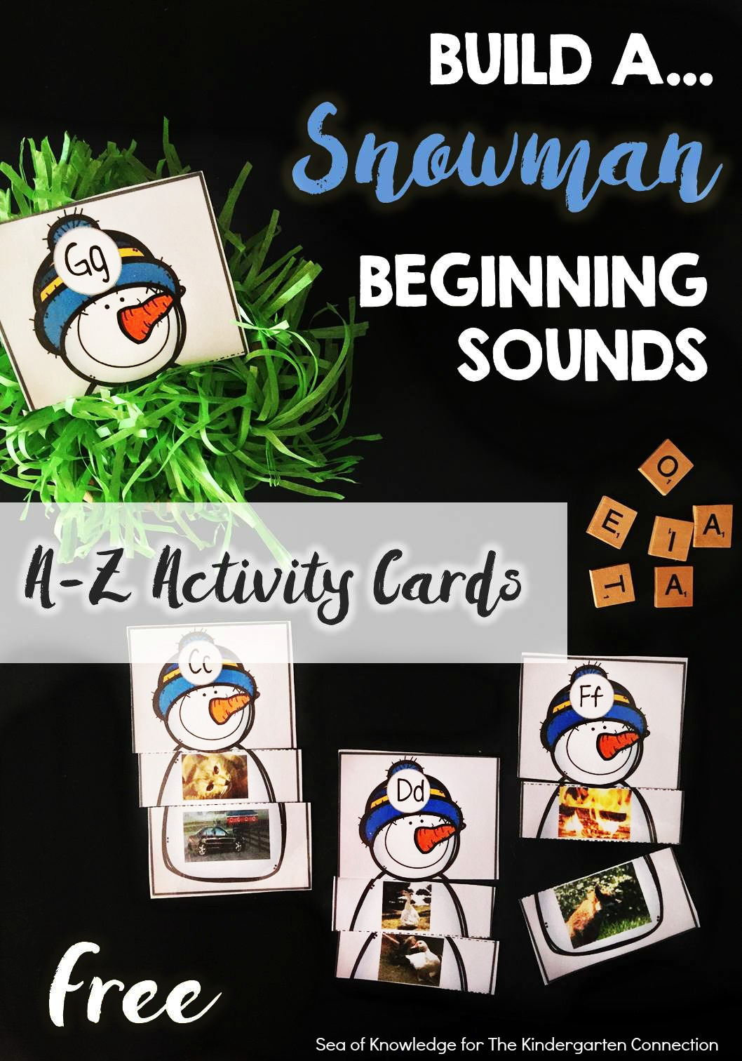 Snowman Printable Beginning Sound Match