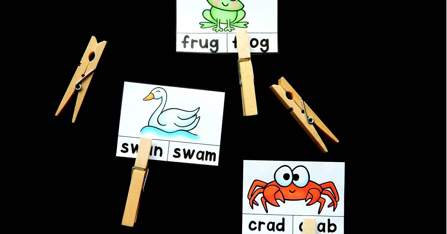 Free Printable Ccvc Words Clip Cards