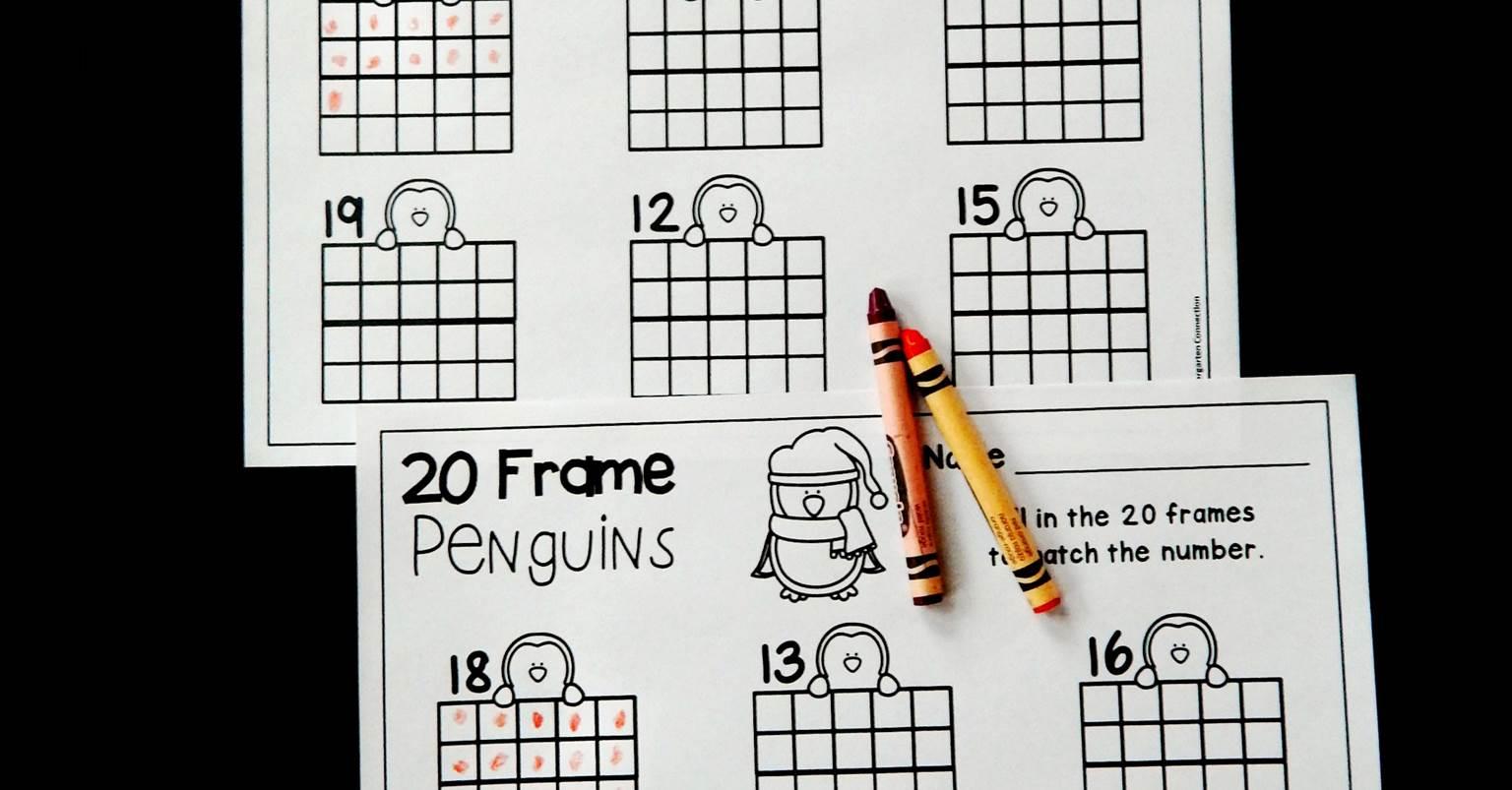 Free Winter Themed Penguin 20 Frame Printable