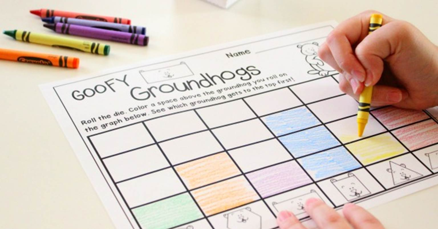 Roll And Graph Groundhog Day Activity