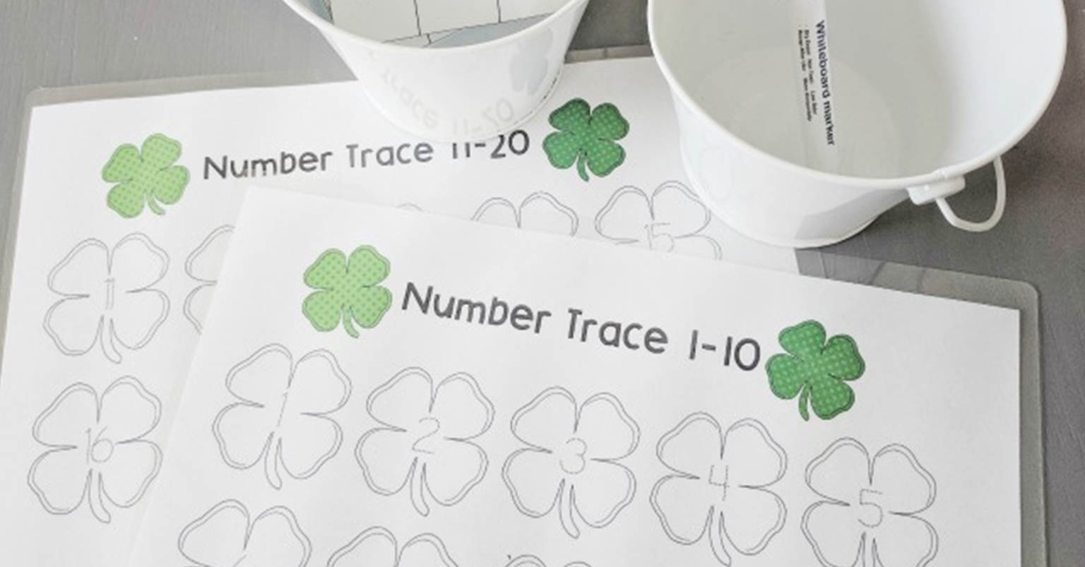 Four Leaf Clover Counting Printables