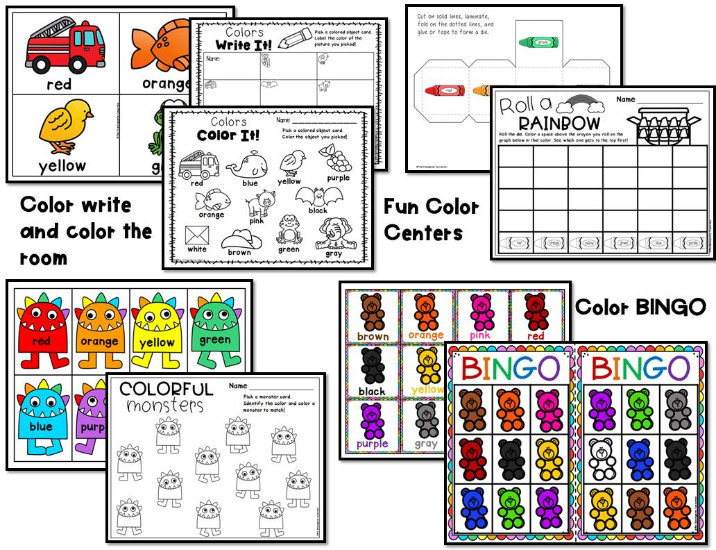 Color Centers And Activities For Pre K And Kindergarten