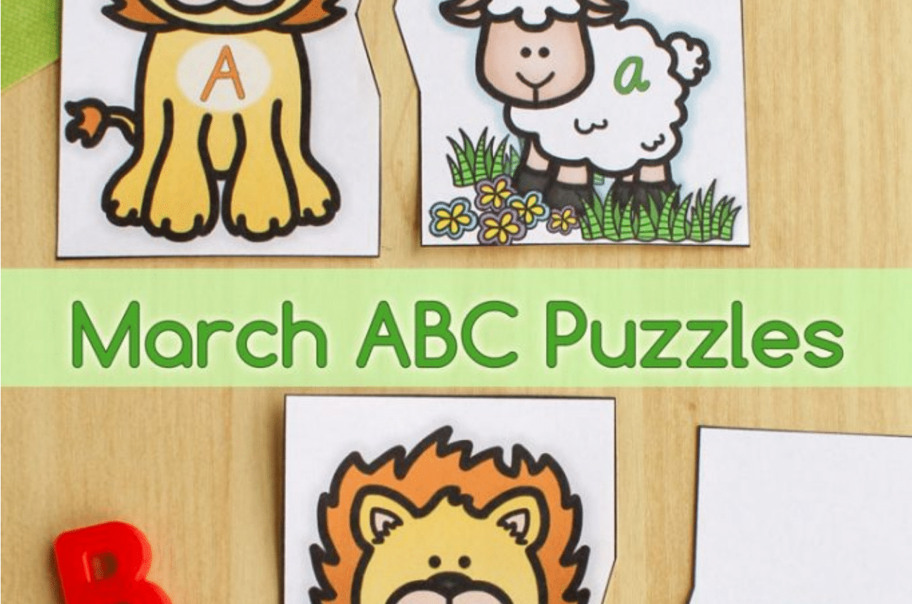 Free Lion And Lamb Printable Alphabet Puzzles For March