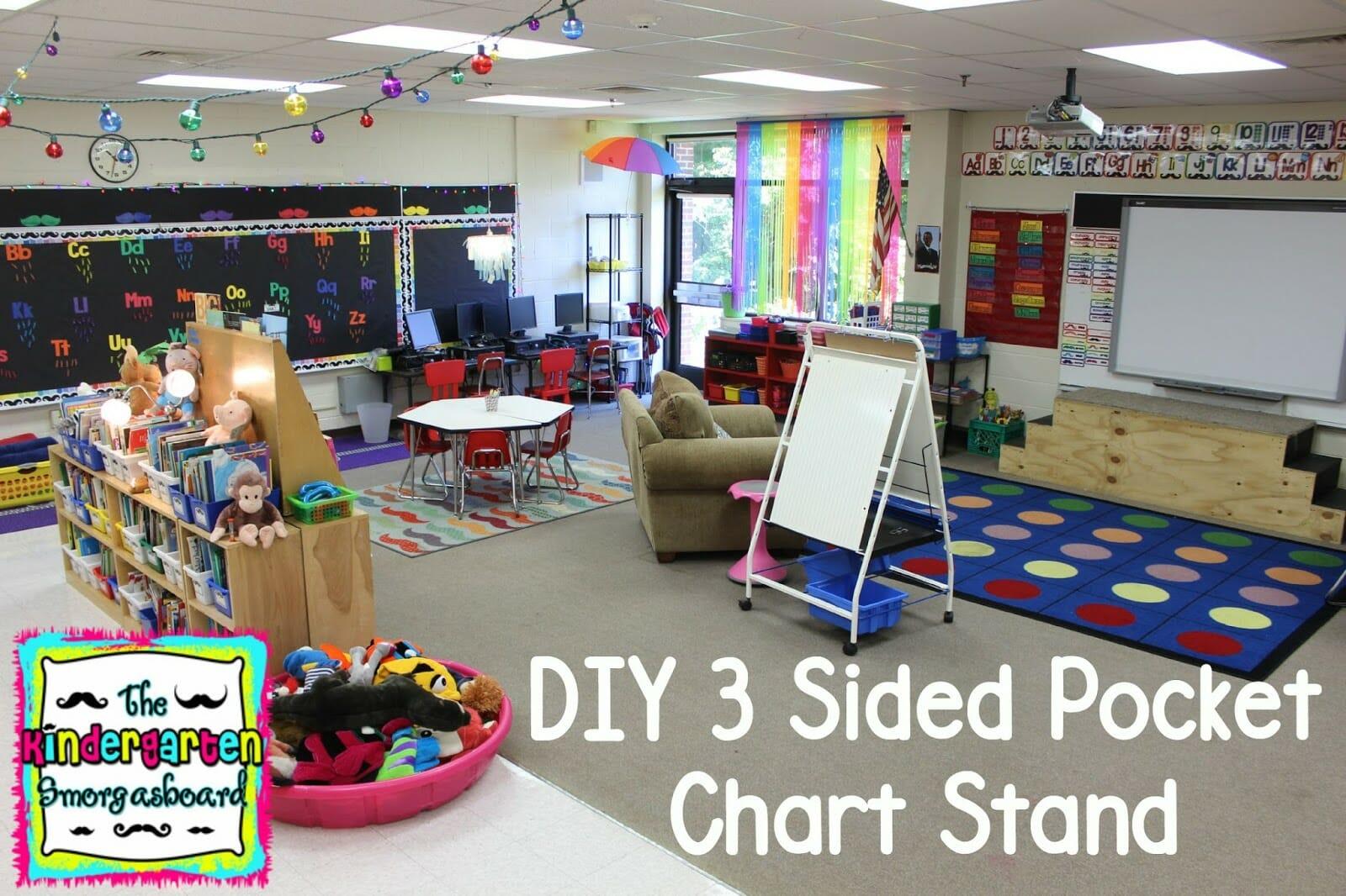 A Kindergarten Smorgasboard Diy 3 Sided Pocket Chart Stand
