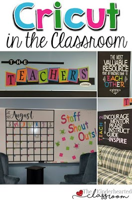 Using a Cricut in the Classroom - Great Ideas & Tips! • The