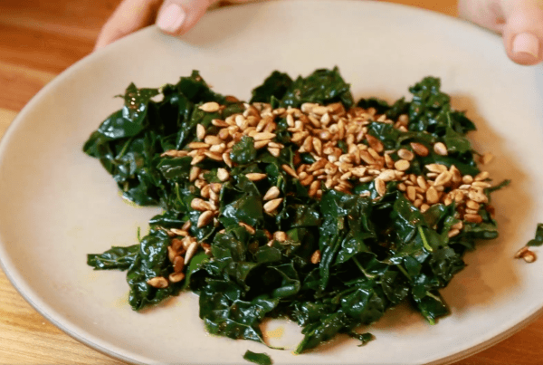 Steamed Kale Drizzled With Umeboshi Plum Vinaigrette