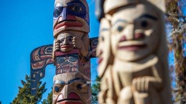 Epcot   Totem Poles in Canada Pavilion   Walt Disney World