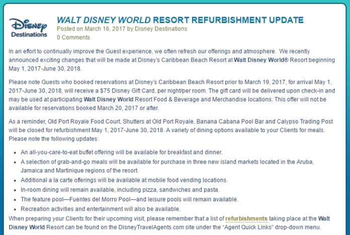 Caribbean Beach Gift Card Offer | Walt Disney World
