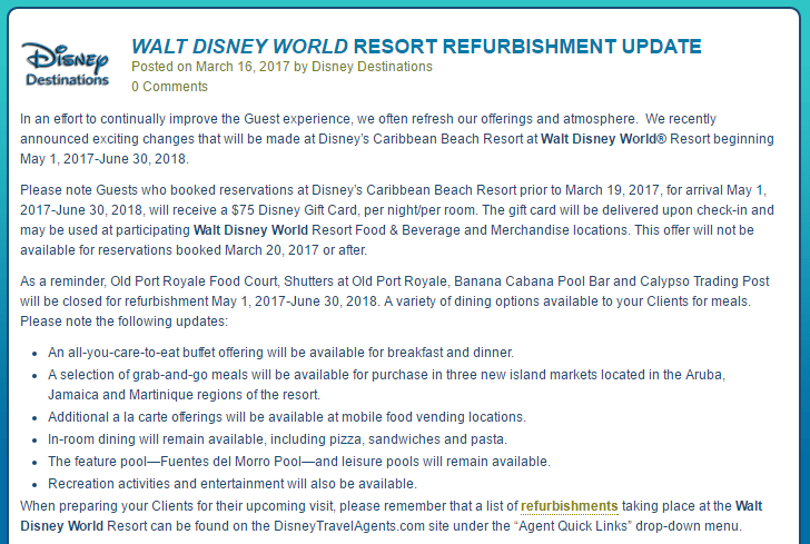 Caribbean Beach Gift Card Offer | Walt Disney World