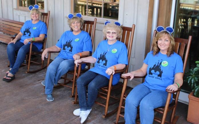 The Golden Grammas relax for a bit in Disney Springs.