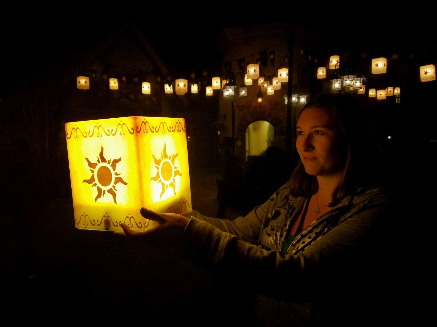 PHOTO Danielle Allgor with the lanterns at